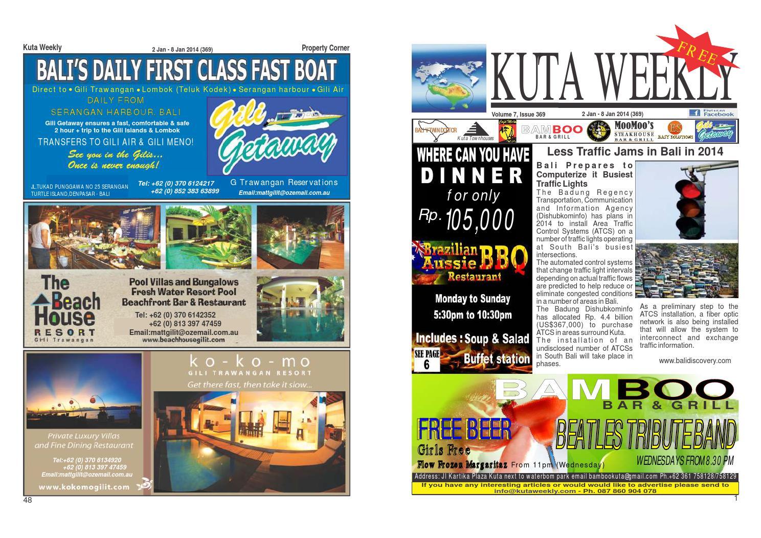 Kuta Weekly Edition 369 Bali S Premier Weekly Newspaper By Kuta