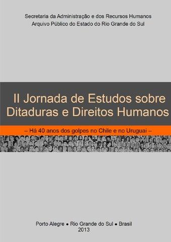 II Jornada de Estudos sobre Ditaduras e Direitos Humanos by Jornada ... a8b20ac1bd