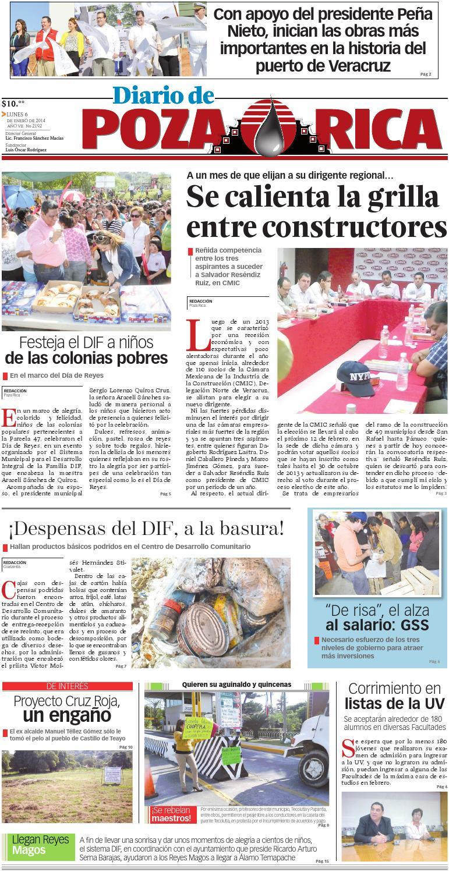 Diario De Poza Rica 6 De Enero De 2014 By Diario De Poza Rica Sa  # Cota Muebles Teziutlan