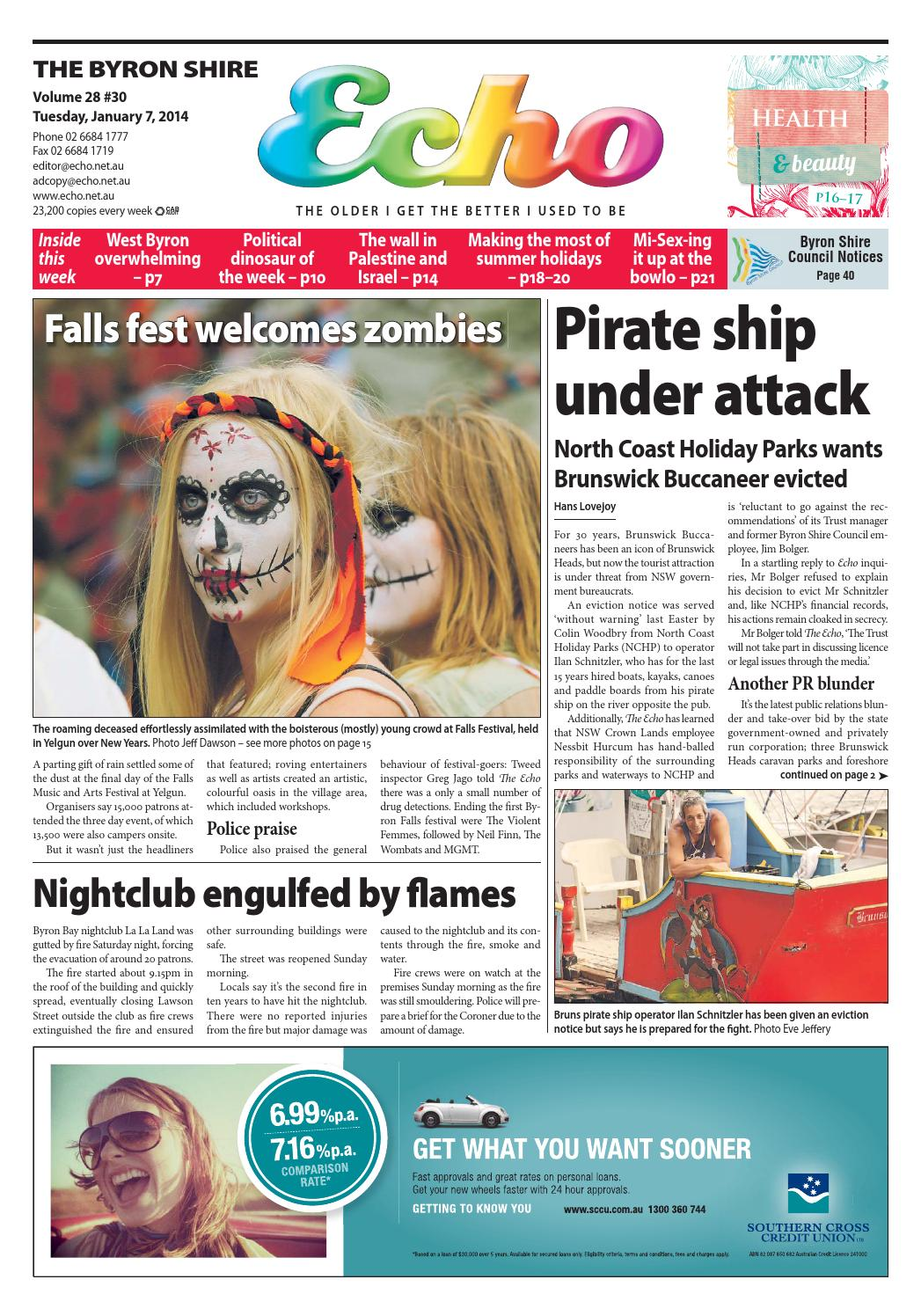 Byron Shire Echo – Issue 28.30 – 07/01/2014 by Echo Publications - issuu