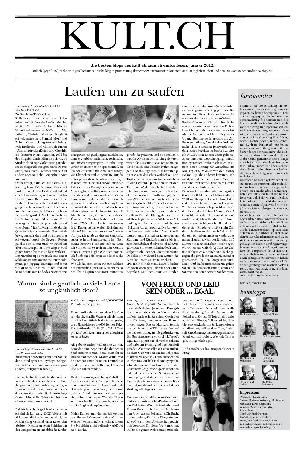 Kultzeitung Januar 2012 By Kult Issuu
