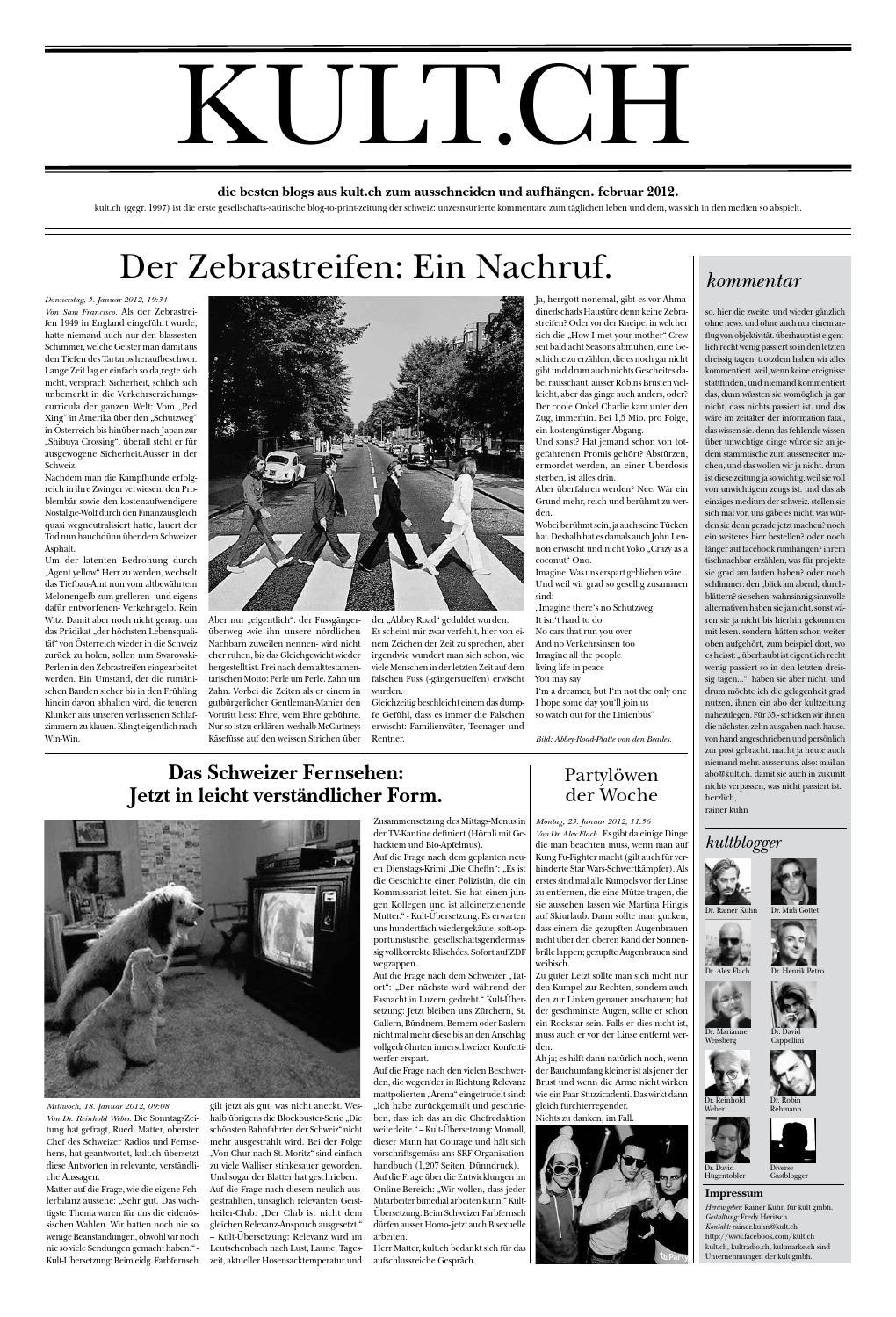 Kultzeitung Februar 2012 by KULT - issuu
