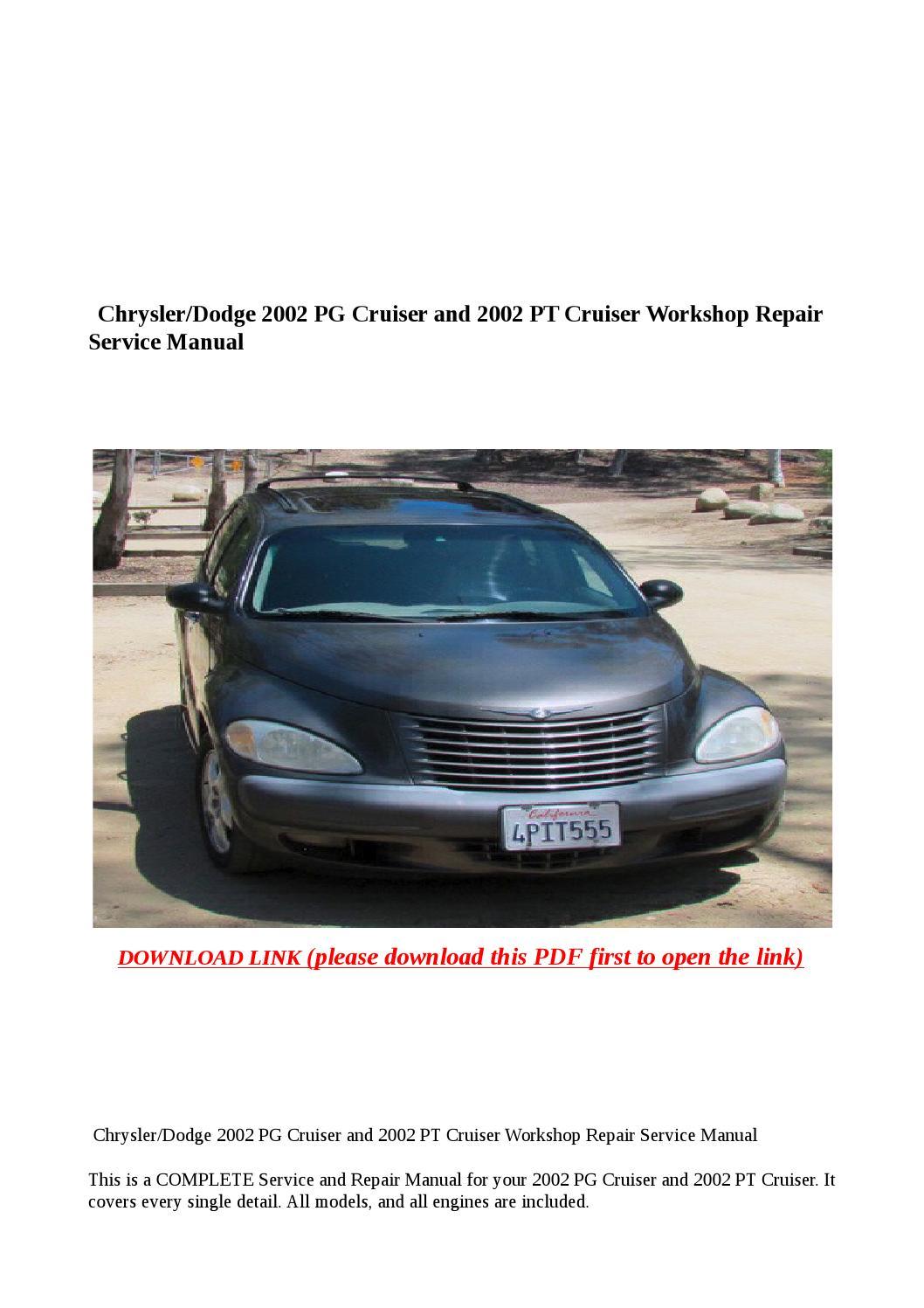 Chrysler Dodge 2002 Pg Cruiser And 2002 Pt Cruiser