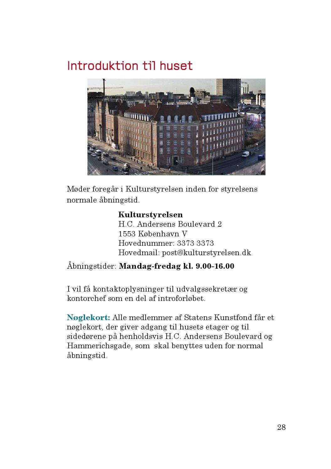 post danmark åbningstider københavn