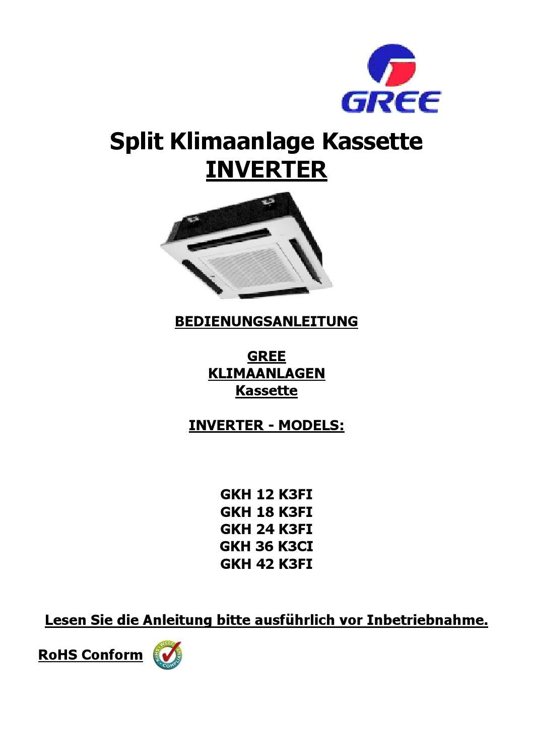 C16 c21 c22 b23 c24 instruction manual kassette inverter deutsch ...