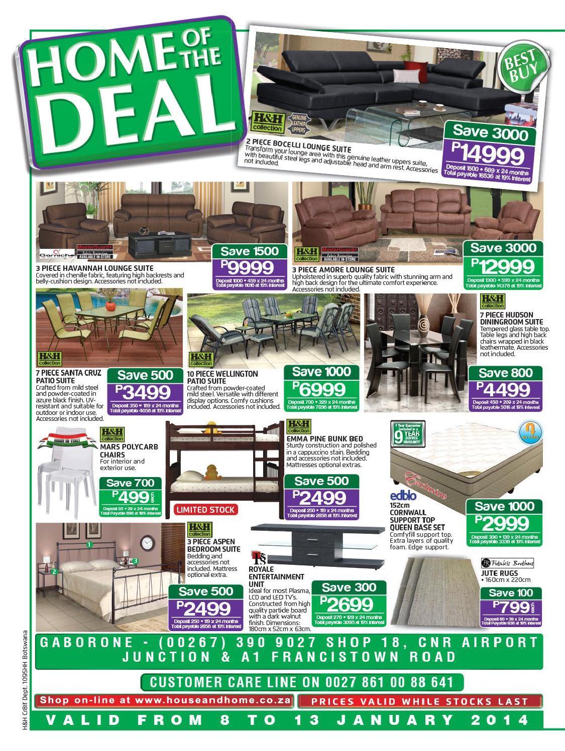 house home botswana catalogue validity 8 13 january 2014. Black Bedroom Furniture Sets. Home Design Ideas