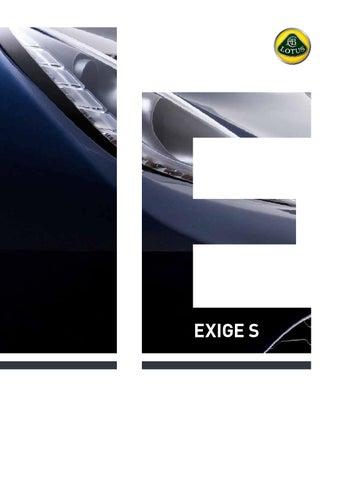 Lotus Exige Brochure (English) by Lotus Cars - issuu