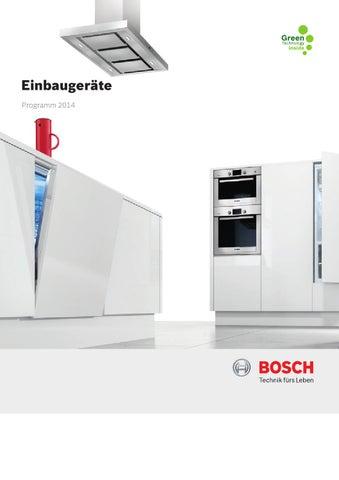Bosch Einbaugerate Programm 2014 By Wechsler Christian Issuu