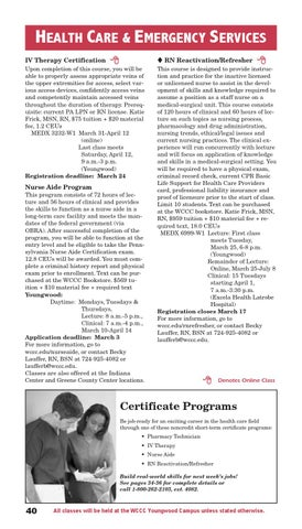 Continuing Education Spring 2014 Schedule by Westmoreland County ...