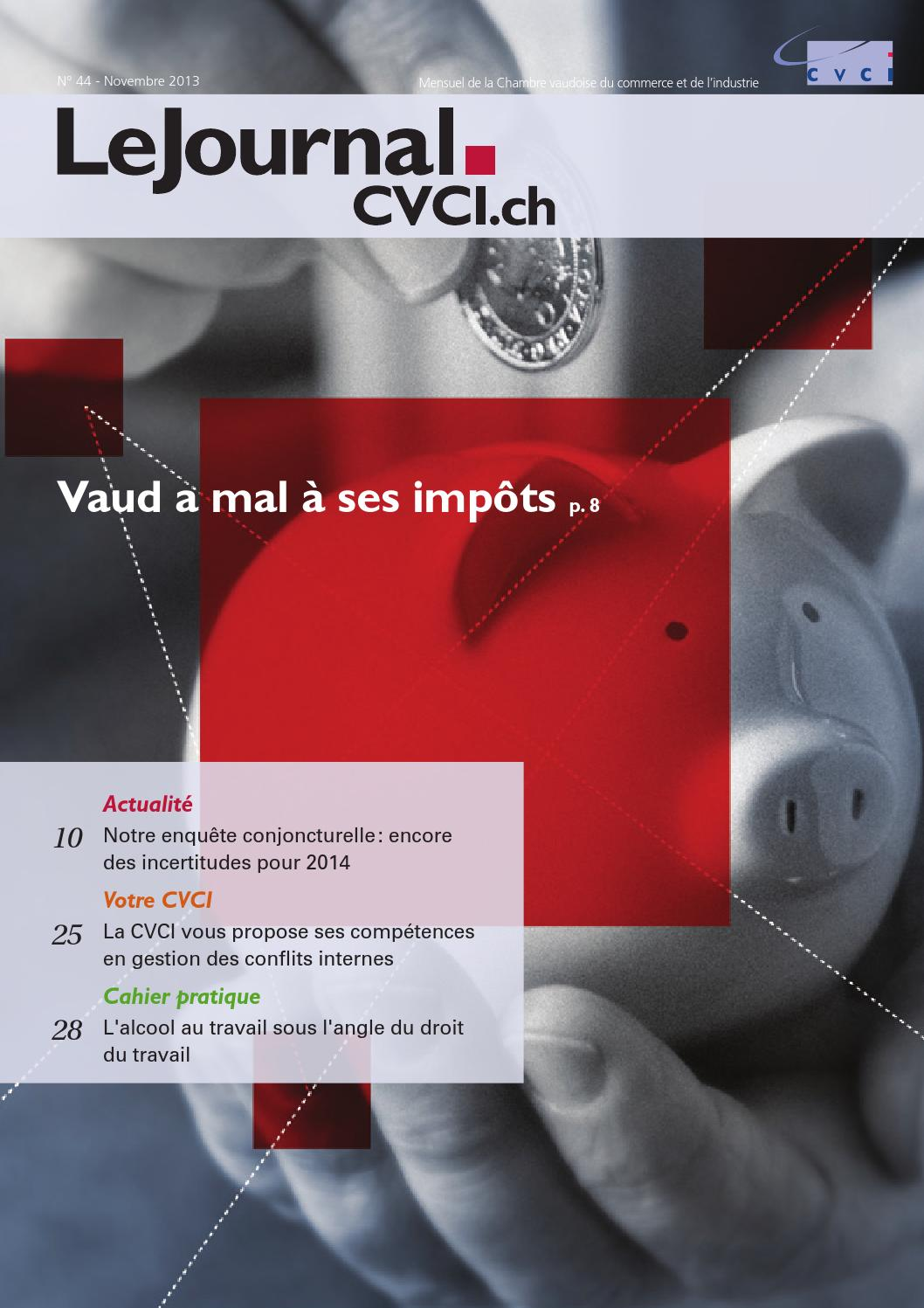 Lejournal cvci n 44 novembre 2013 by gervaise defago for Chambre de commerce vaud