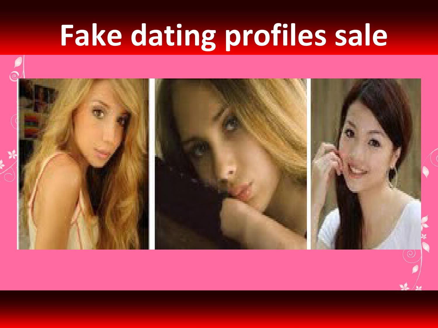 Fake pictures for dating profiles