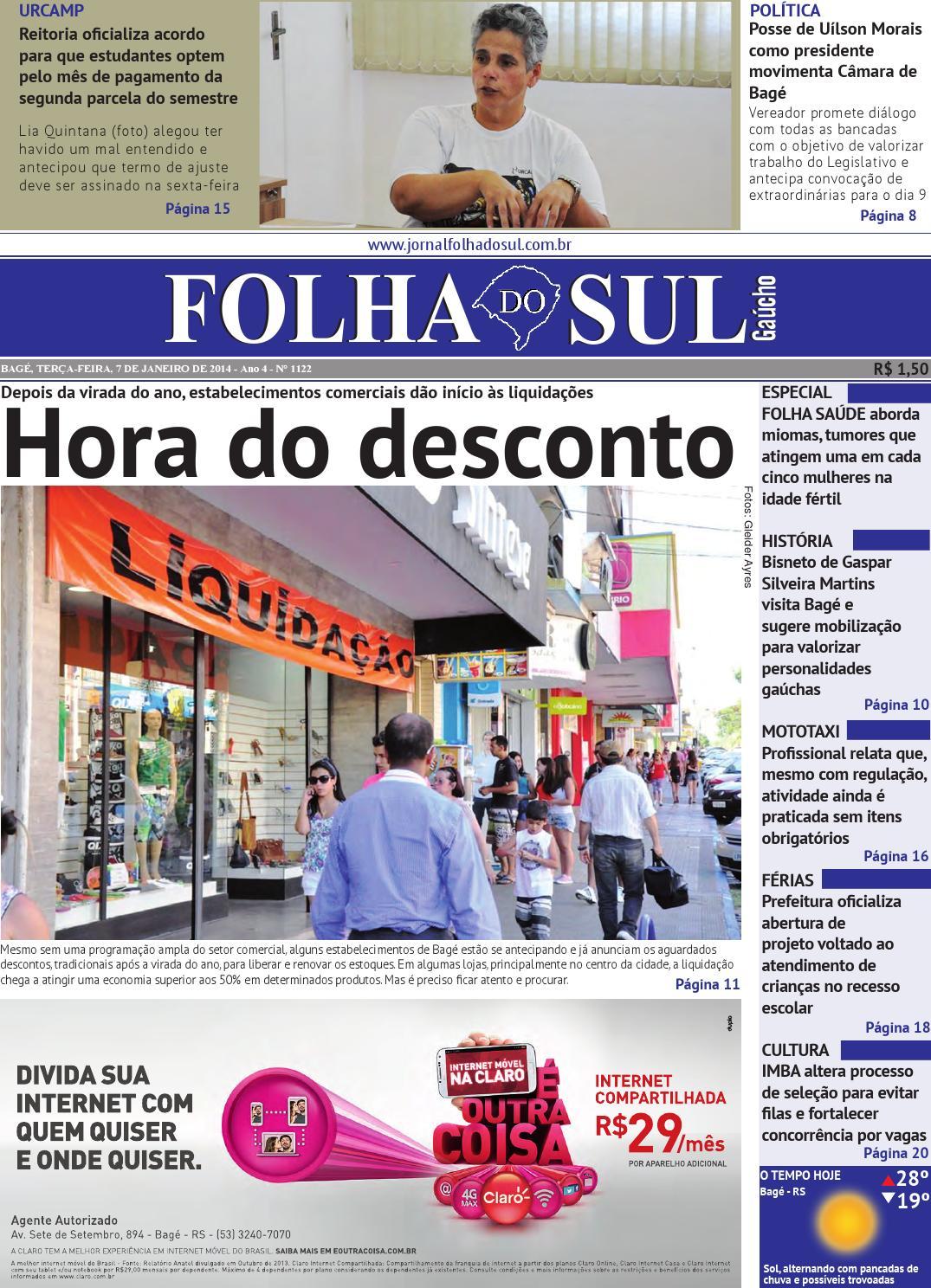66e08a2d3 Folha do Sul Gaúcho Ed. 1122 (07 01 2014) by Folha do Sul Gaúcho - issuu