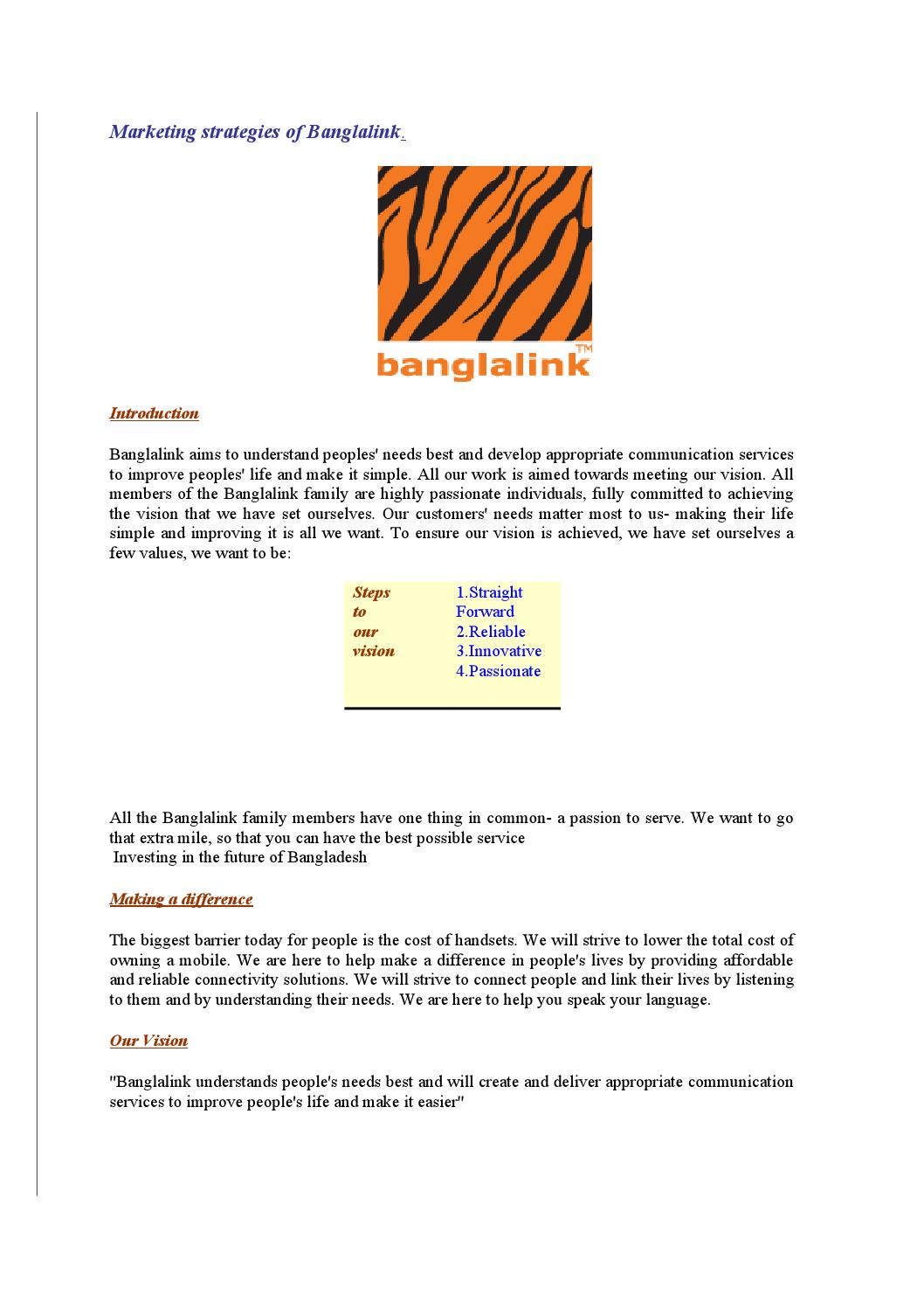Banglalink Marketing Plan