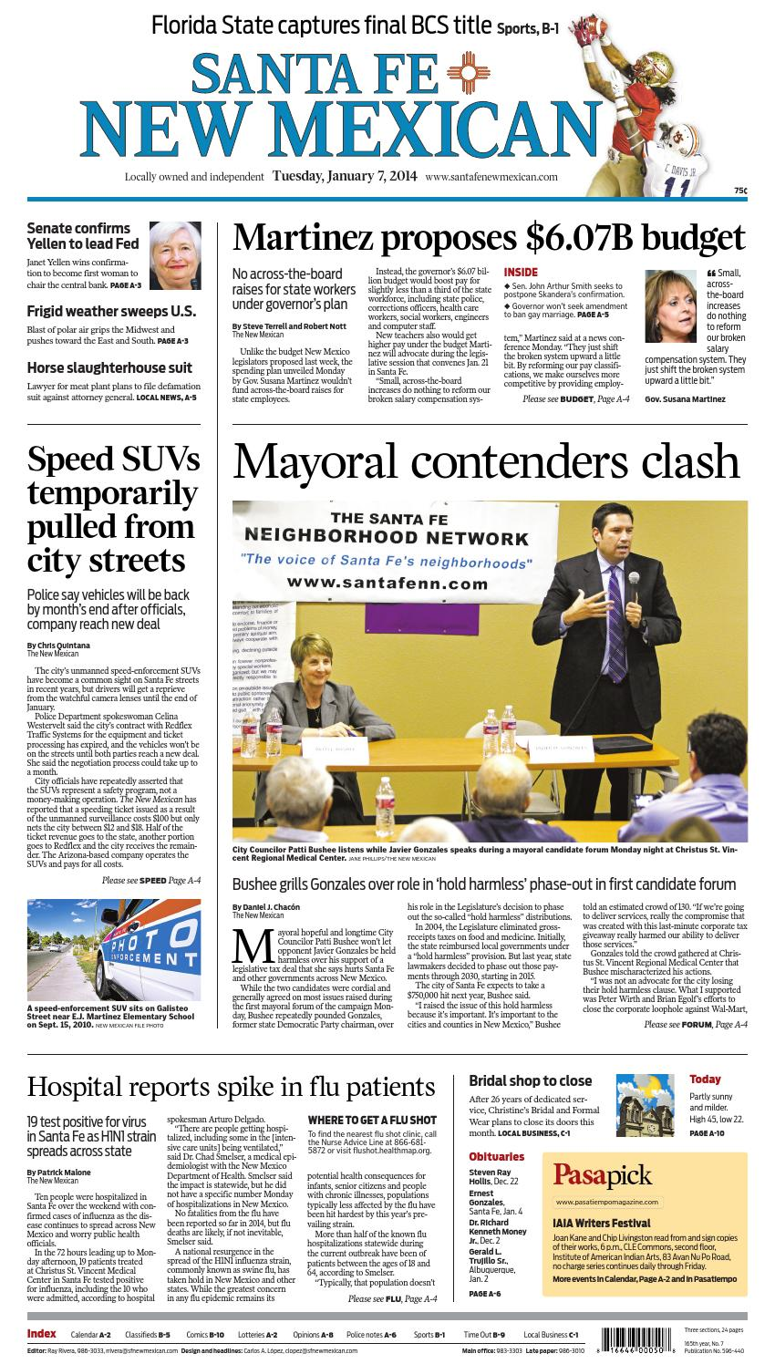 Santa Fe New Mexican, Jan  7, 2013 by The New Mexican - issuu