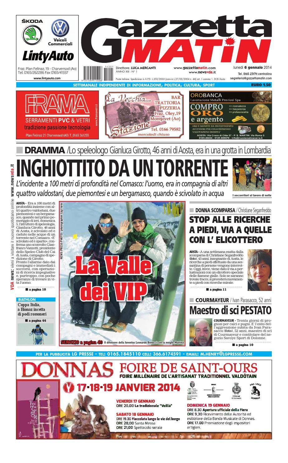 Listino Prezzi Mobili Grange.Gazzetta Matin Del 6 Gennaio 2014 By Luca Mercanti Issuu