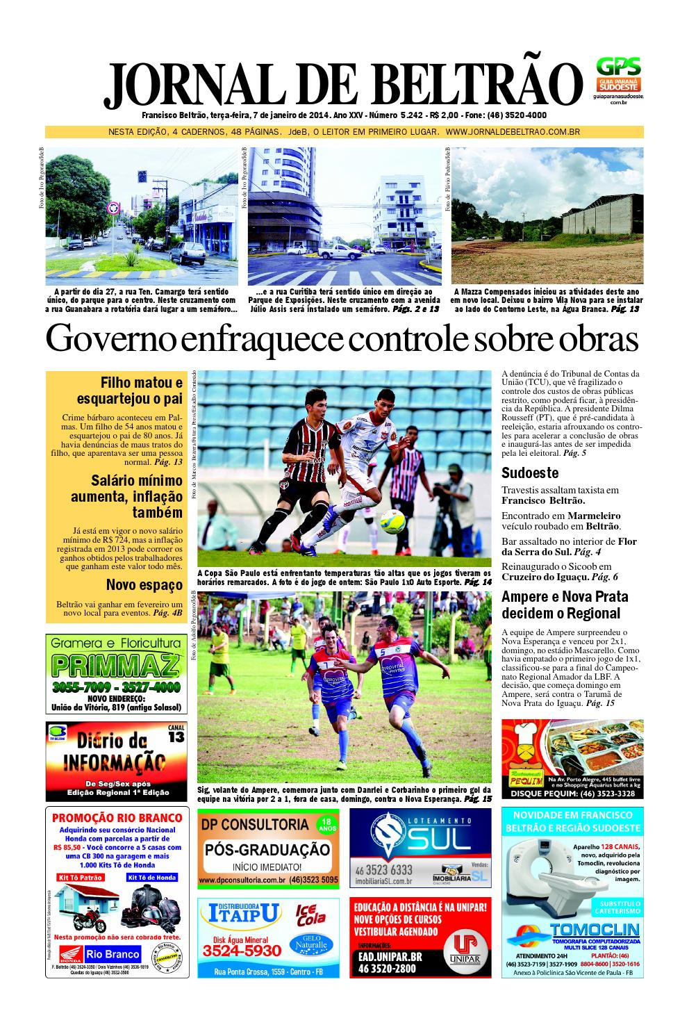 Jornaldebeltrao 5242 07-01-2014.pdf by Orangotoe - issuu cca56ac1d7888