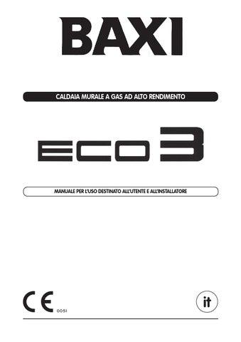 Manuale eco 3 baxi by baxi spa issuu for Prezzo caldaia baxi eco 3