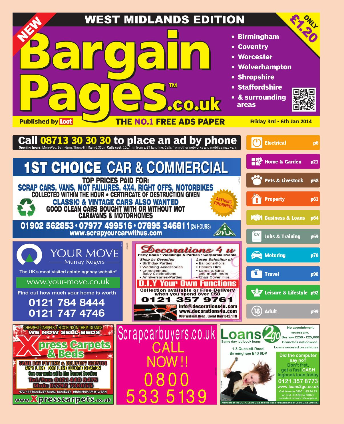 Bargain pages midlands 3rd january 2014 by loot issuu fandeluxe Image collections