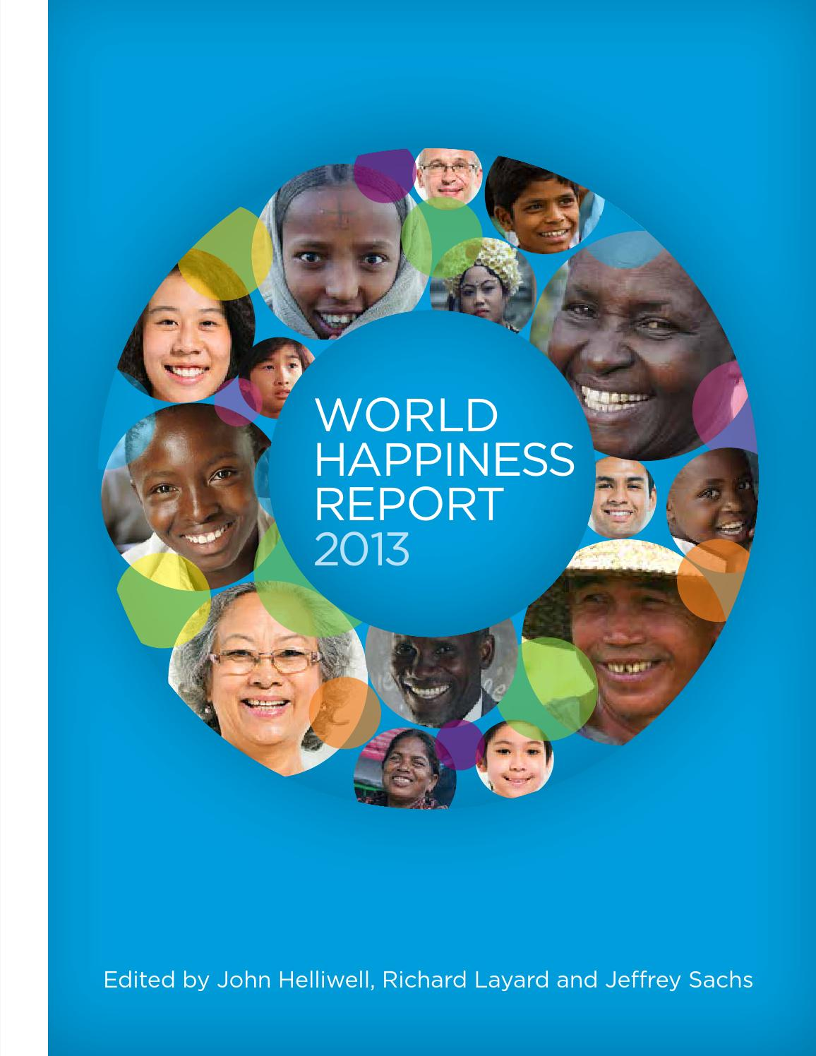 World Happiness Report 2013 by Earth Institute, Columbia University