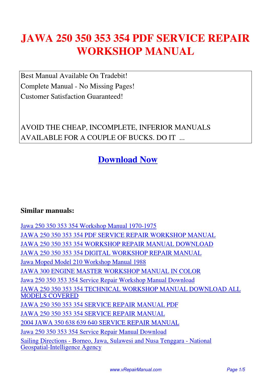 JAWA 250 350 353 354 SERVICE REPAIR WORKSHOP MANUAL.pdf by David Zhang -  issuu