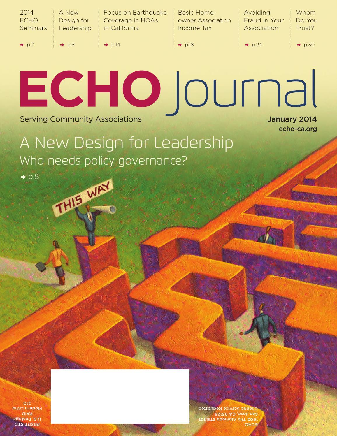 ECHO Journal - January 2014 by Echo - issuu