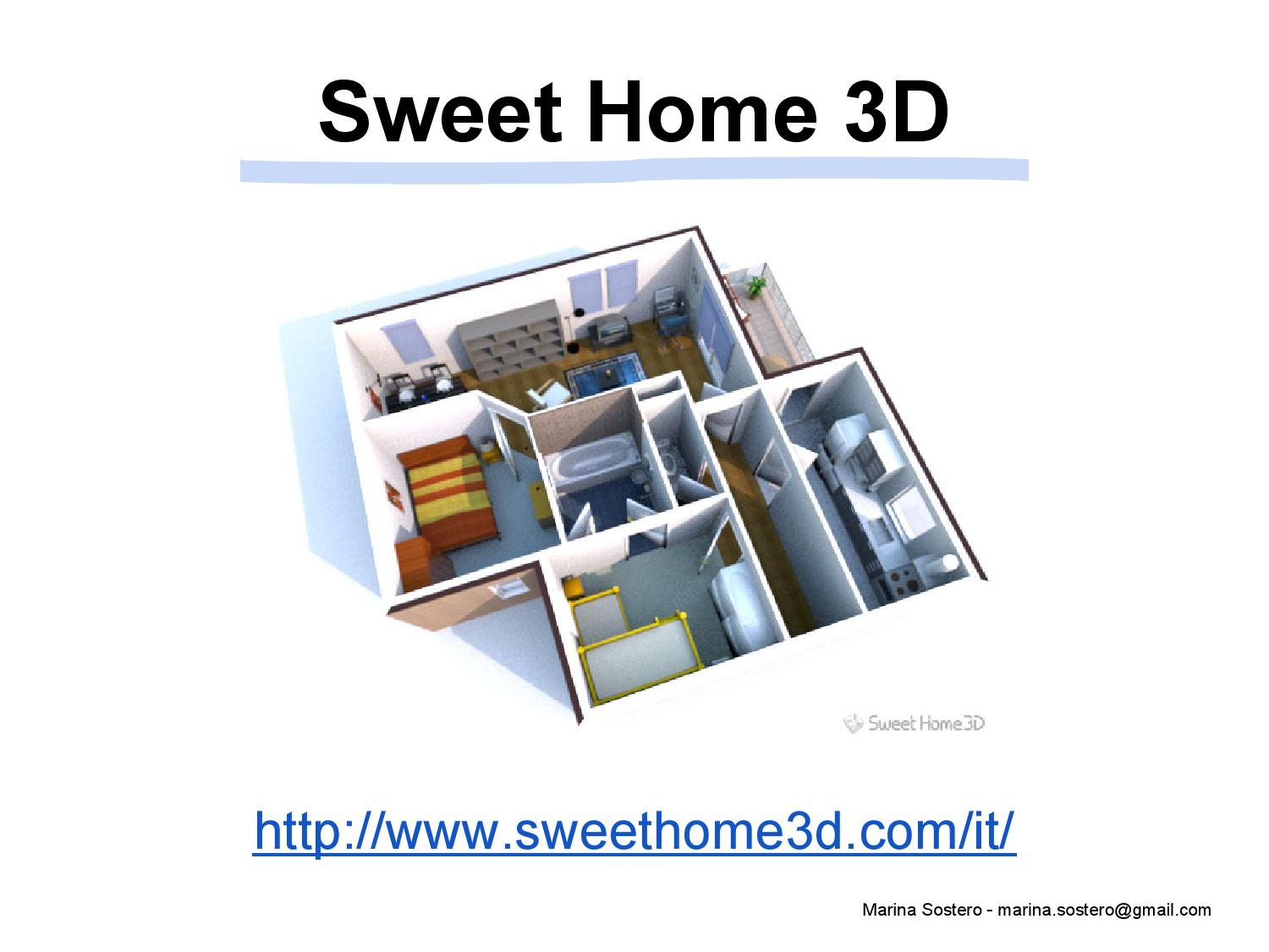 Sweethome3d by marinasostero issuu for Programma 3d semplice