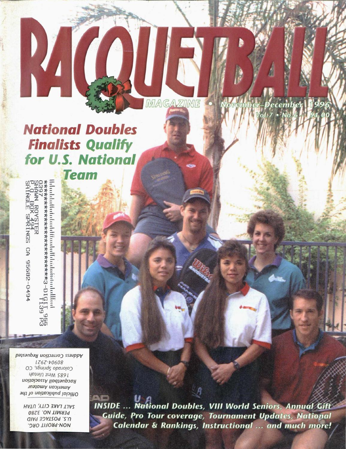 296862bed8e Racquetball Magazine - March April 2000 by Jimmy Oliver - issuu