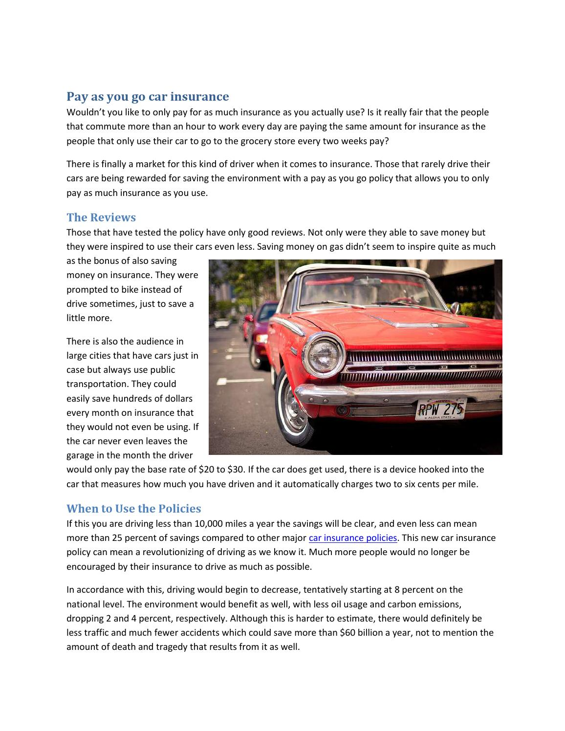 Pay As You Go Car Insurance By Seth Jenkins Issuu