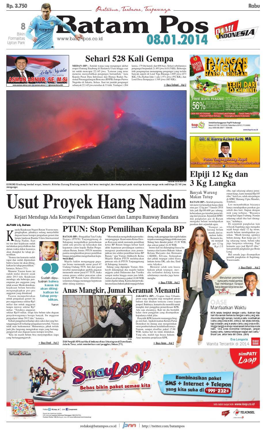 8 Januari 2014 by Batampos Newspaper - issuu 2ec608071a
