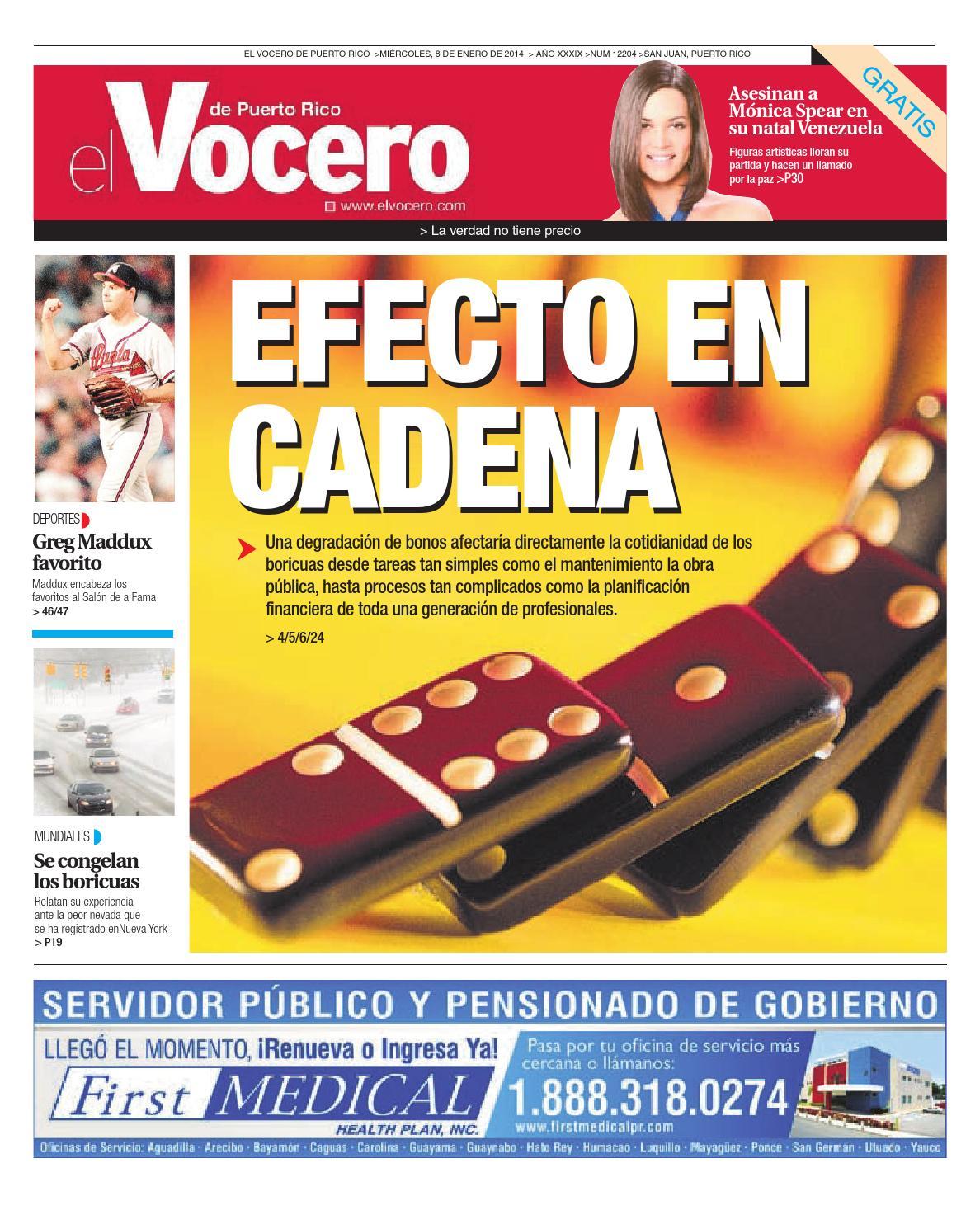 Edición 8 de Enero 2014 by El Vocero de Puerto Rico - issuu 20f3e861fe5