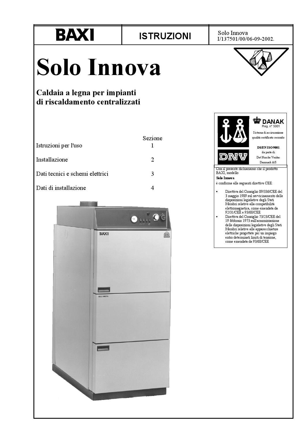 Manuale solo innova baxi by baxi spa issuu for Istruzioni caldaia baxi