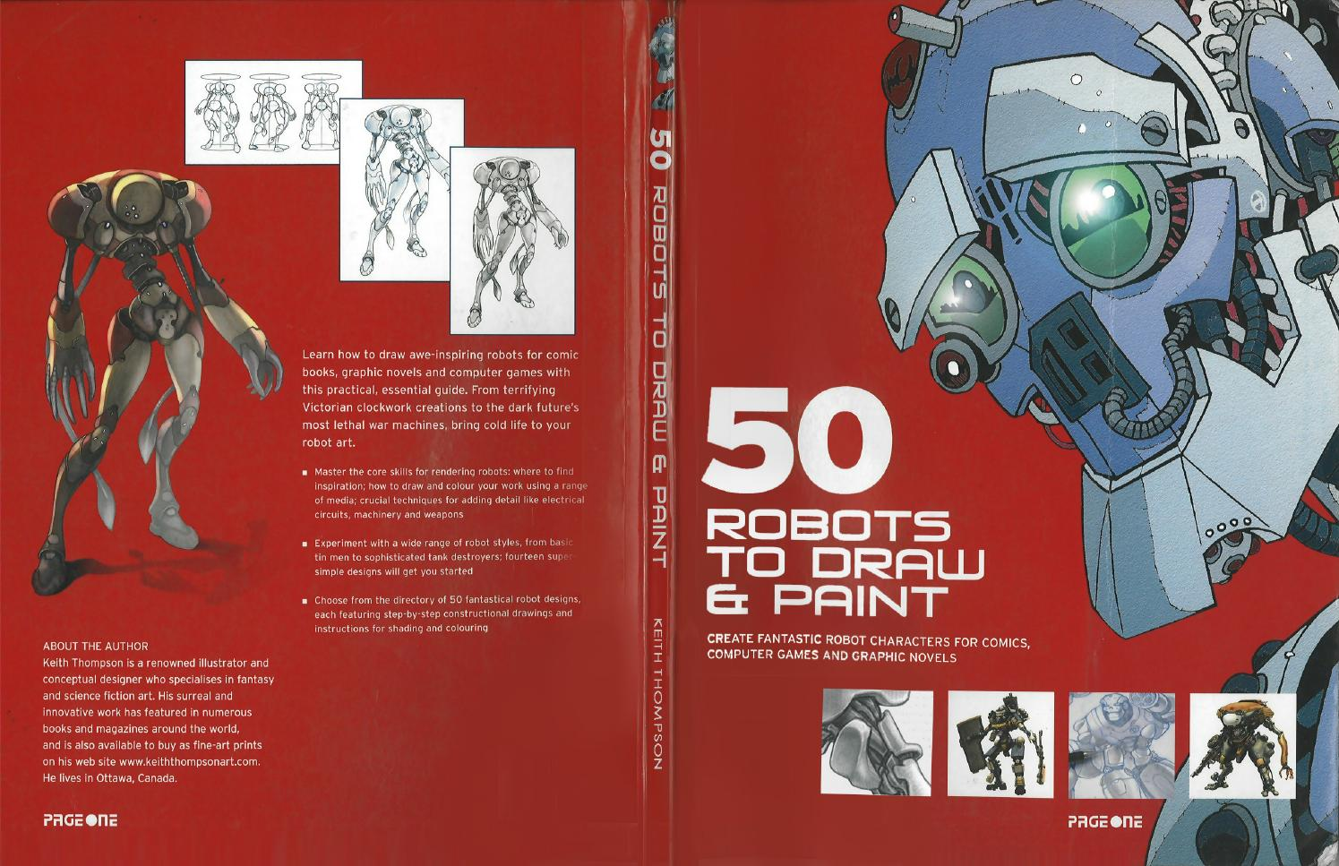 50 robots to draw and paint create fantastic robot characters for ...