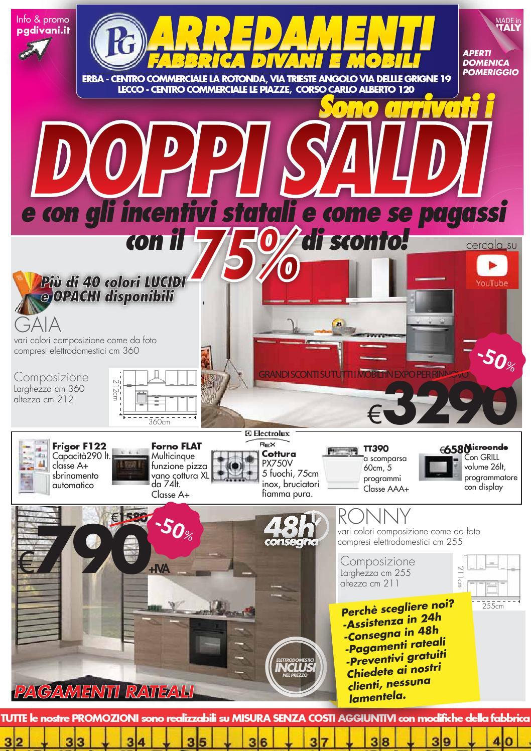 Pg Divani Lazzate.Volantino Promozioni Gennaio Pg Arredamenti By Pg Store Issuu