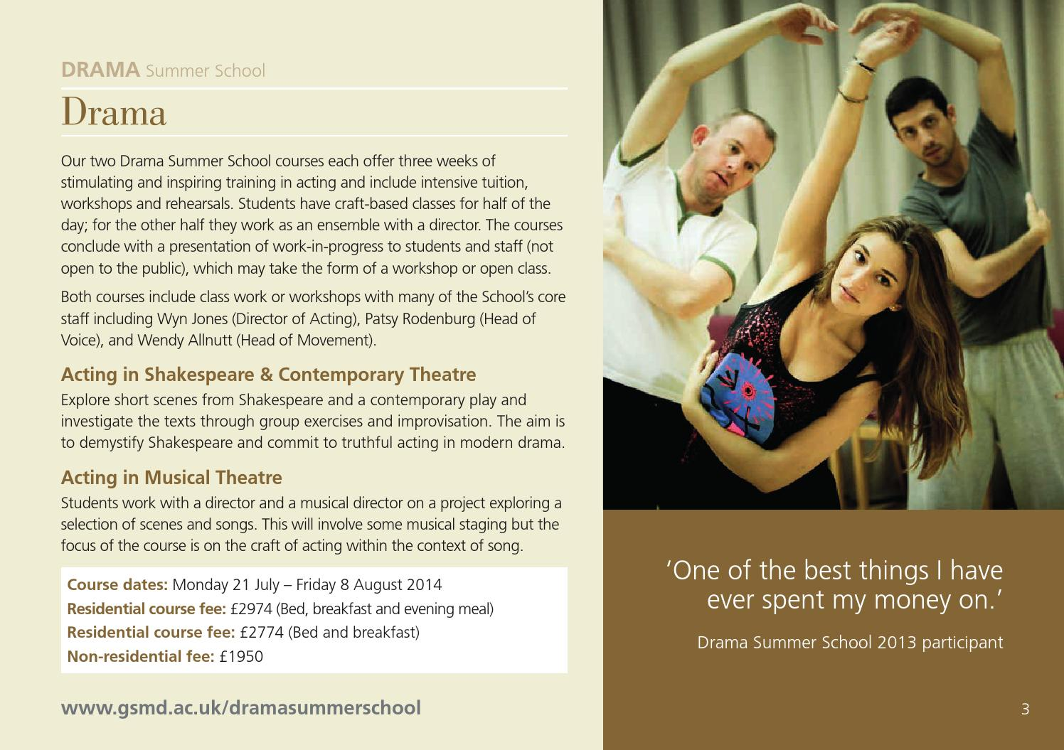 Guildhall School Short Courses - 2014 entry by Guildhall