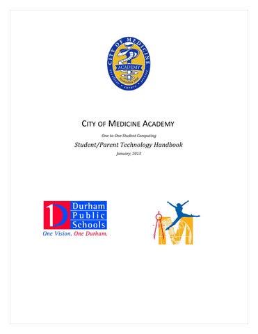 Cma Student Technology Handbook 2013 14 By Cityofmedicineacademy Issuu