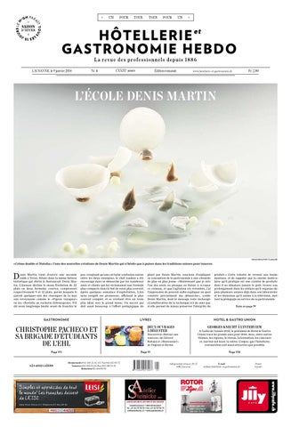 HetG Hebdo 1 2014 By Hotellerie Gastronomie Verlag