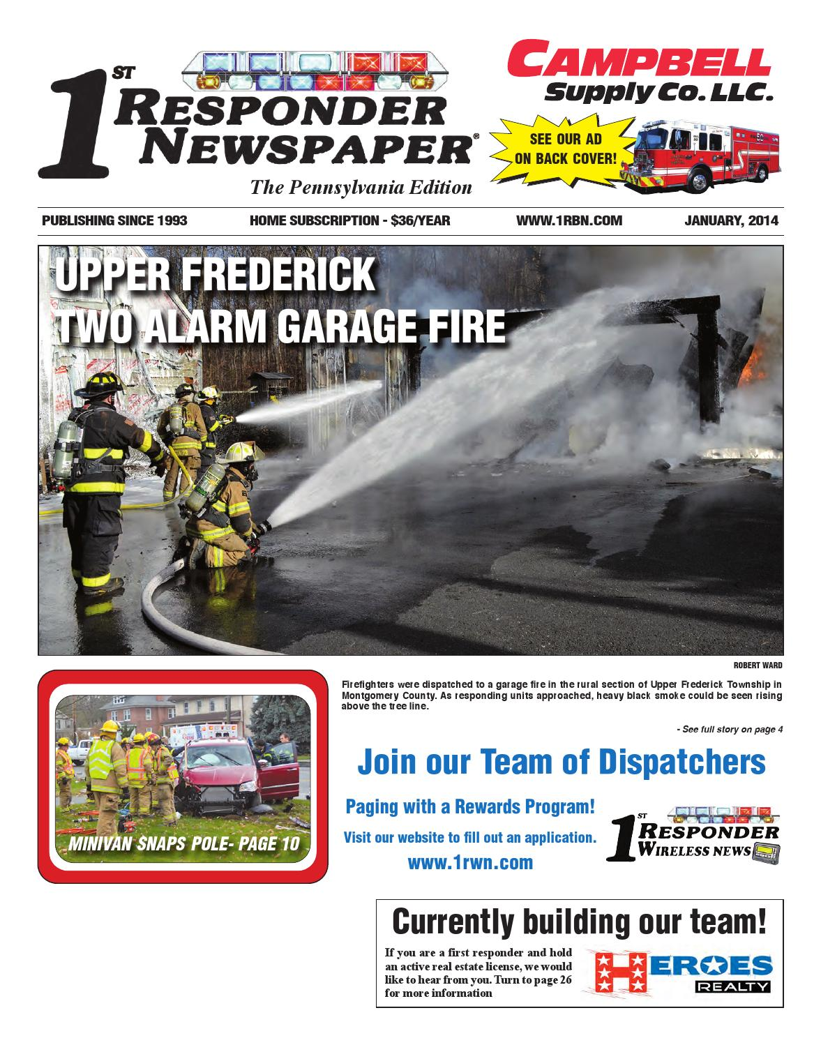 1st responder news pa january edition by belsito for Garage ad colleville montgomery