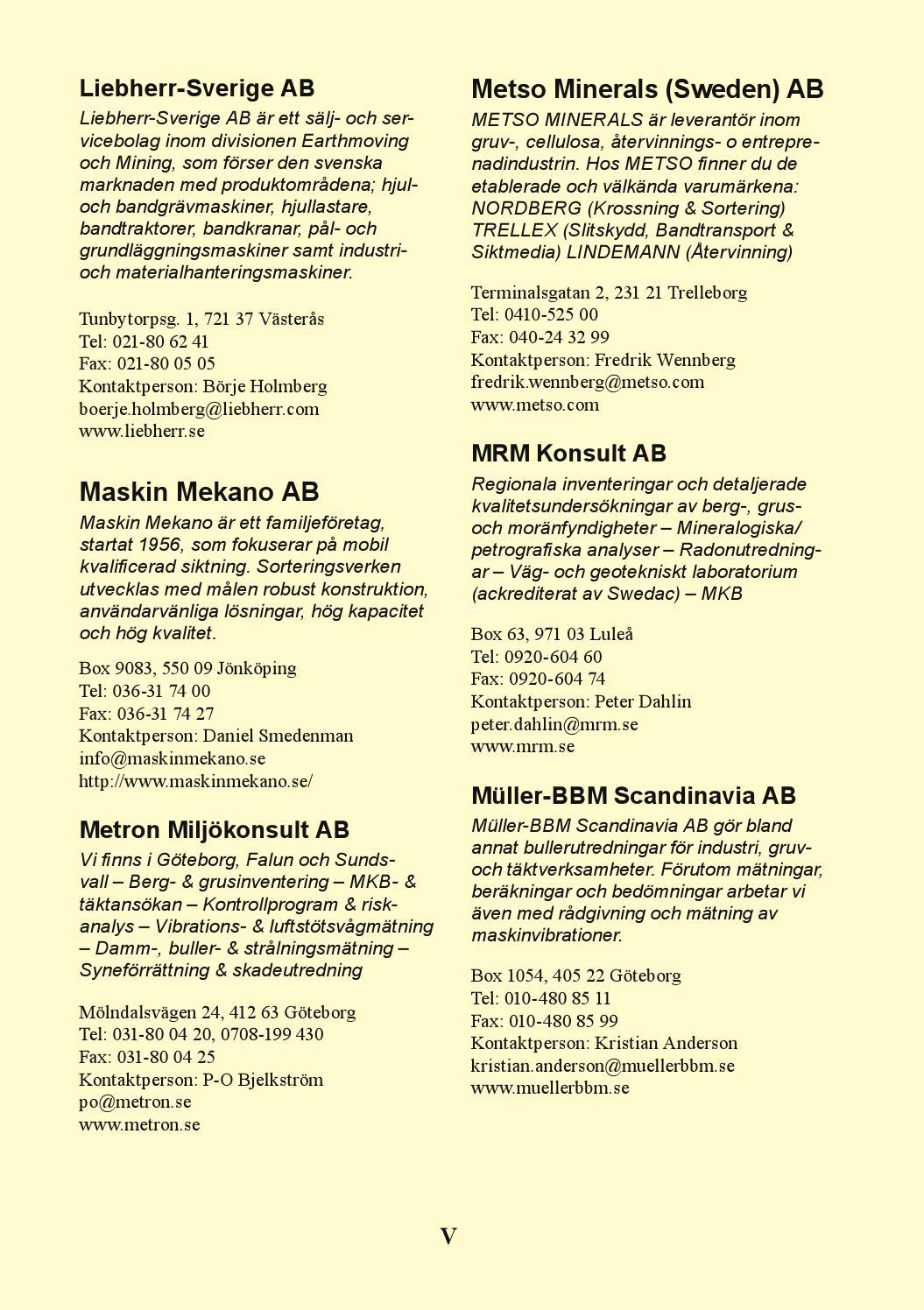 Sbmi Medlemsmatrikel 2014 By Sveriges Bergmaterialindustri