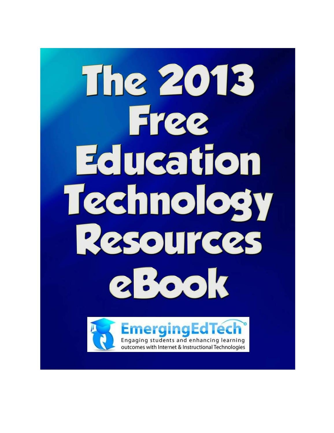 Emergingedtech's 2013 free education technology resources
