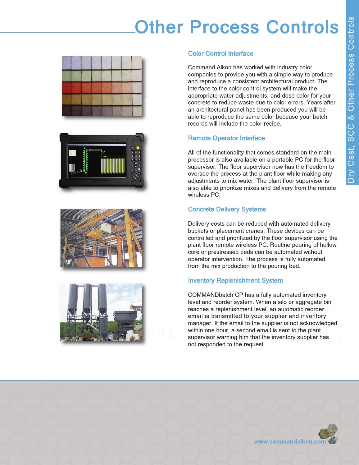 Concrete Products Automation Brochure from Command Alkon by