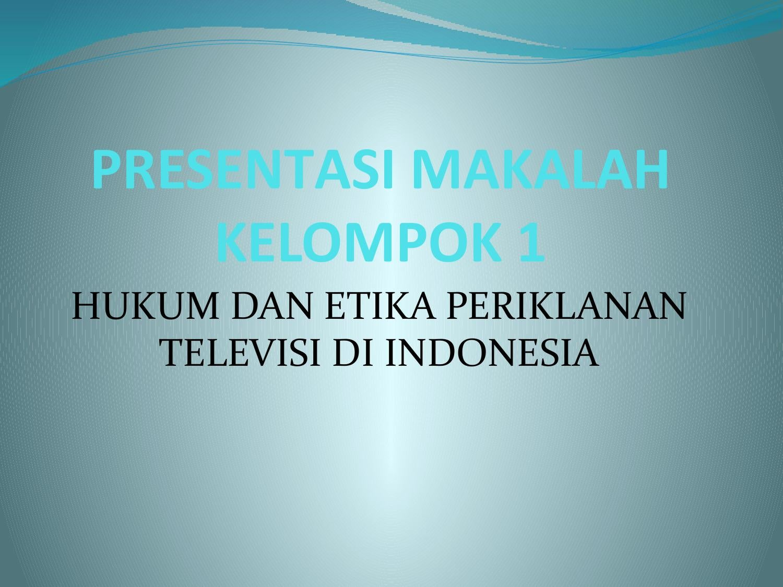 Etika Pariwara Indonesia Pdf