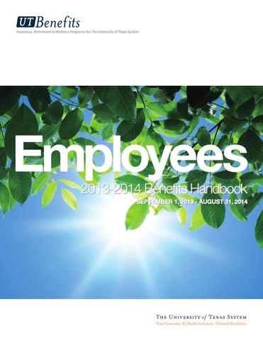 2013-2014 UT Benefits Handbook for Employees by UT System