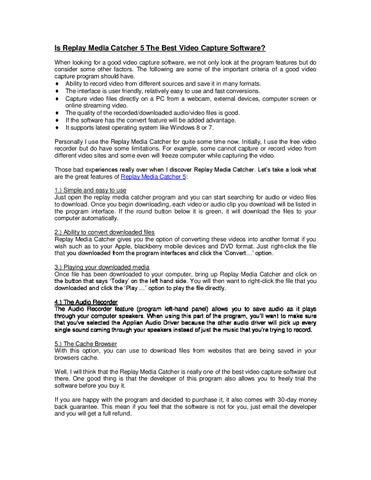replay media catcher free download windows 7