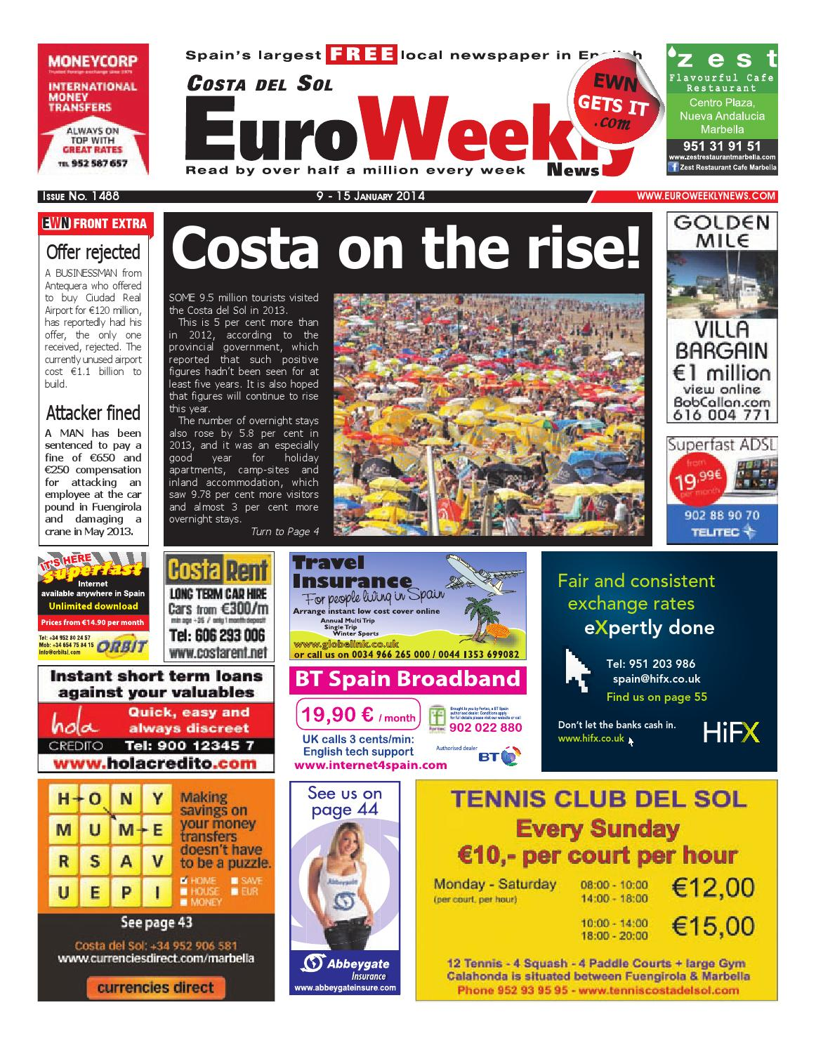 a336583080 Euro Weekly News - Costa del Sol 9 - 15 January 2014 Issue 1488 by ...