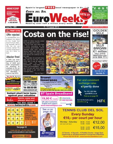 44d6a798d Euro Weekly News - Costa del Sol 9 - 15 January 2014 Issue 1488 by ...