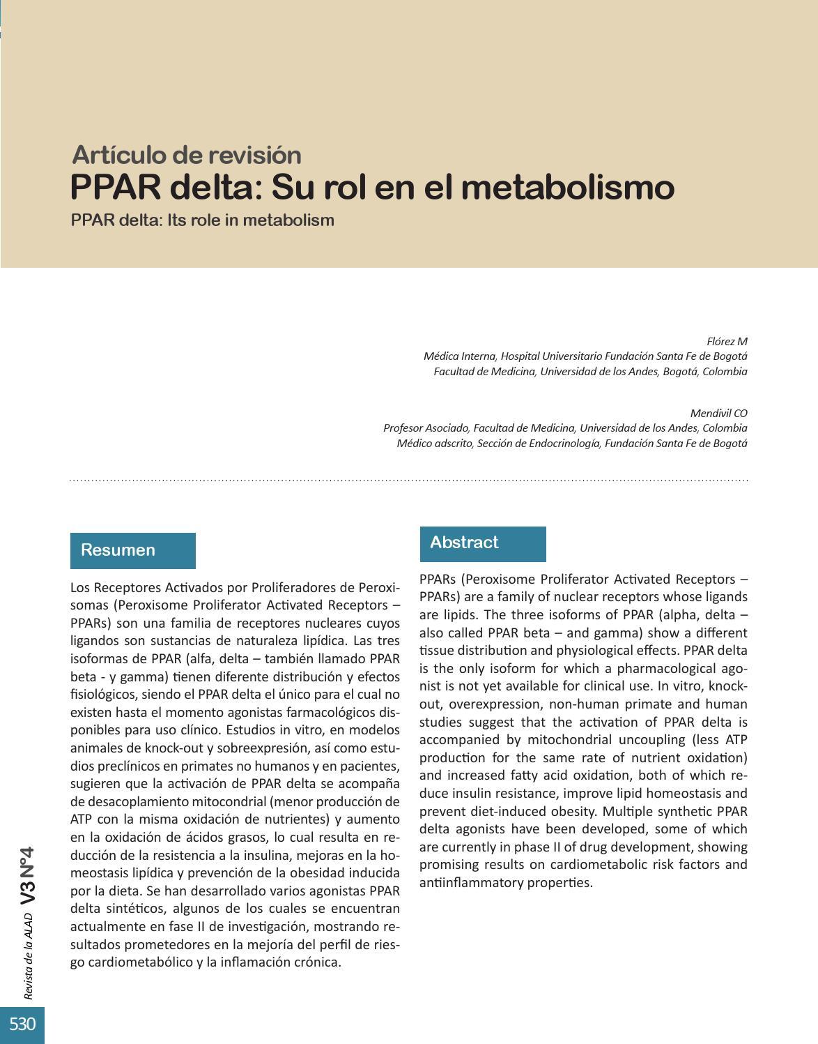 dieta de diabetes agonista alfa ppar