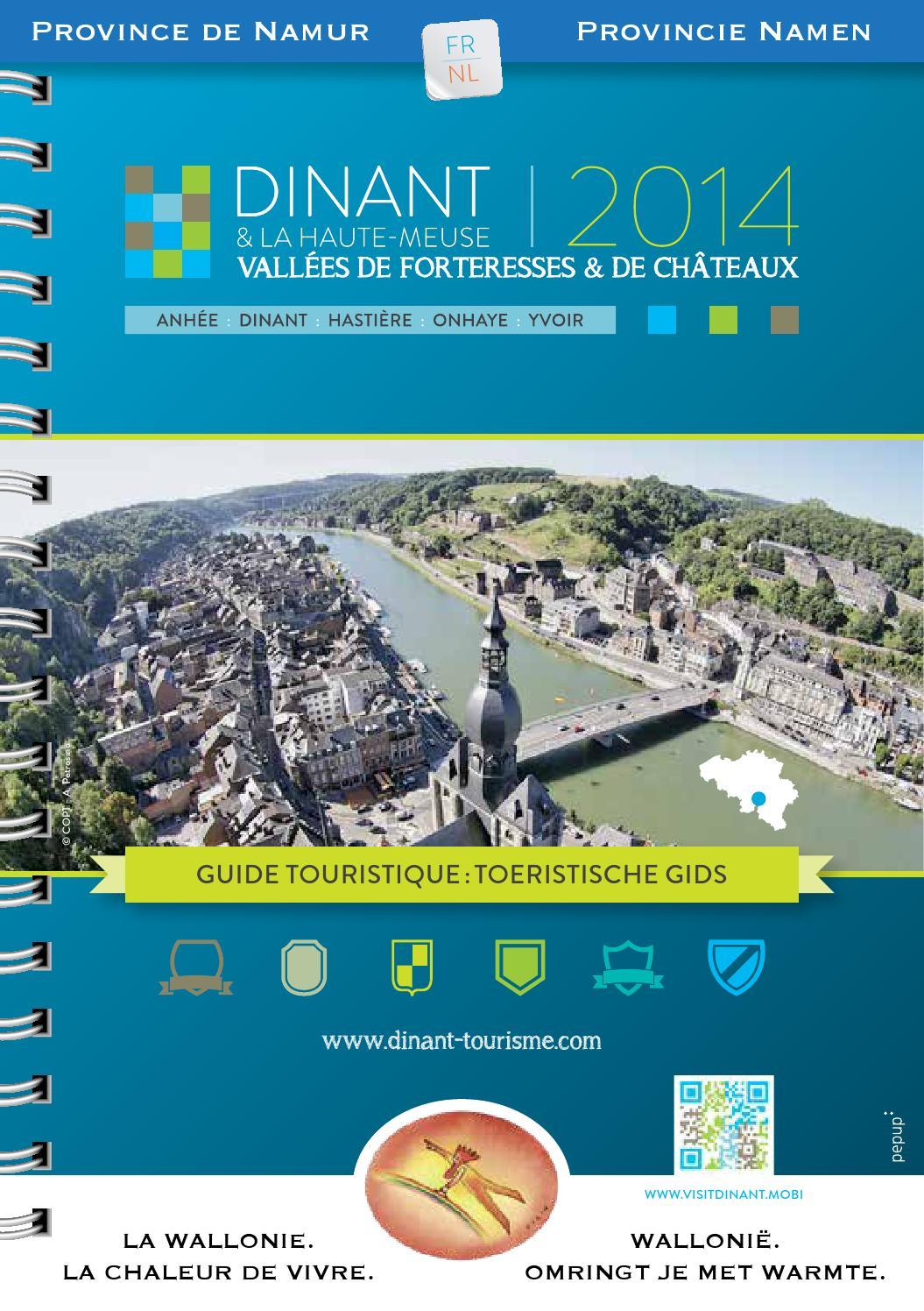 Guide touristique 2014 by maison du tourisme vall e de la meuse namur dinant issuu - Office du tourisme dinant ...