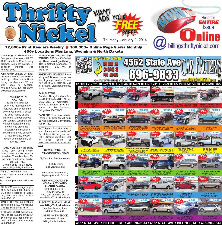 Thrifty Nickel Jan 9 by Billings Gazette issuu