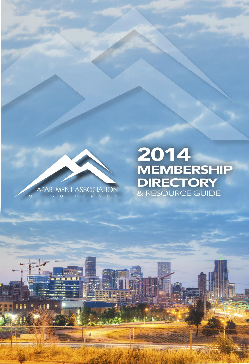 2014 Membership Directory by Apartment Association of Metro