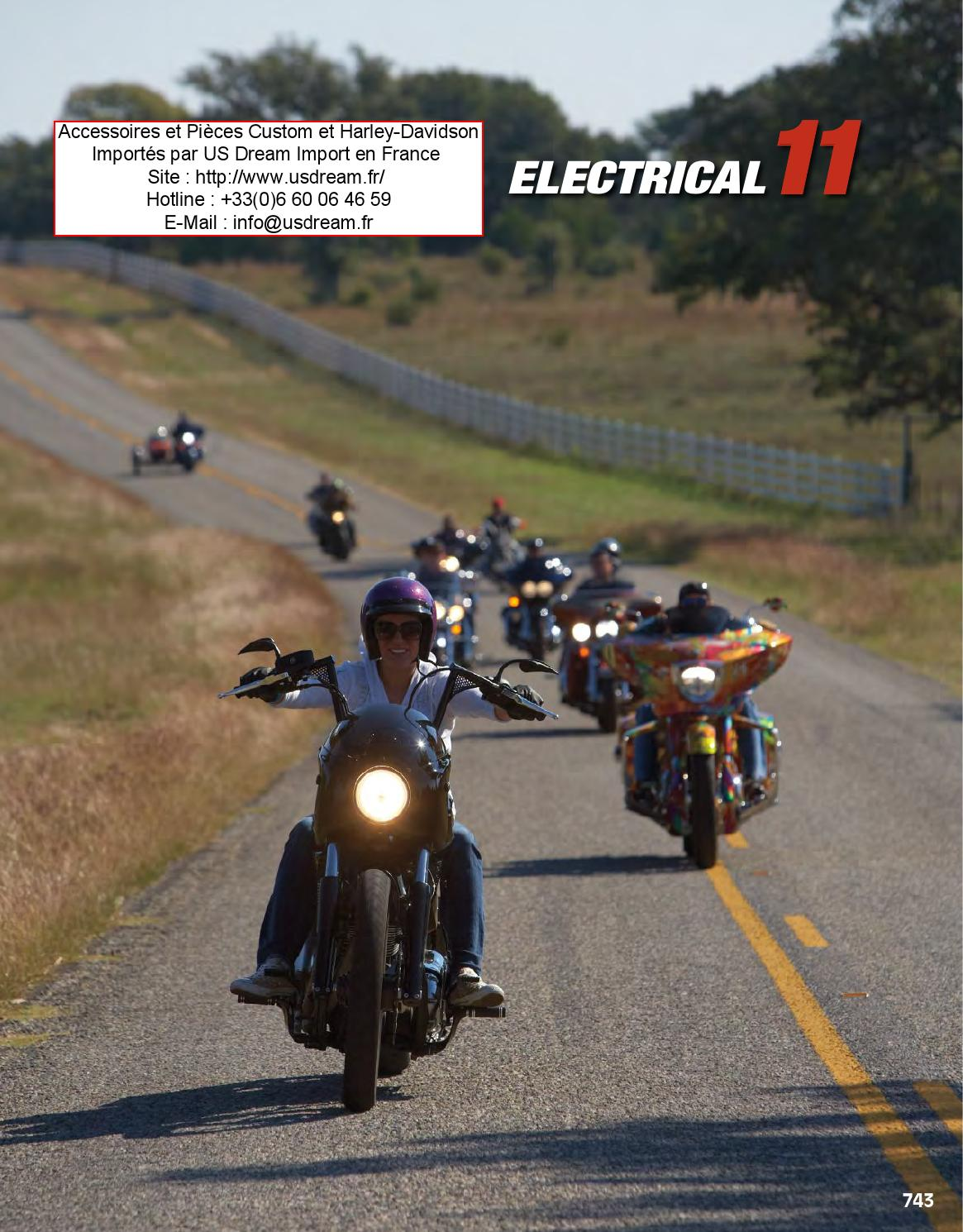 Harley Davidson Et Moto Custom Accessoires Electricit By 12 Pin Wiring Harness Pieces Chrome Des Usa Issuu
